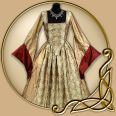 Replicas - The Tudors - Anne Boleyn Dress In Silver